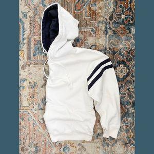 John Galt White & Blue Pullover Hoodie
